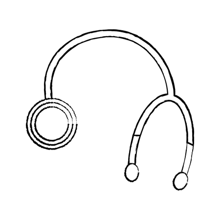 stethoscope medical equipment healthcare object vector illustration Ilustração