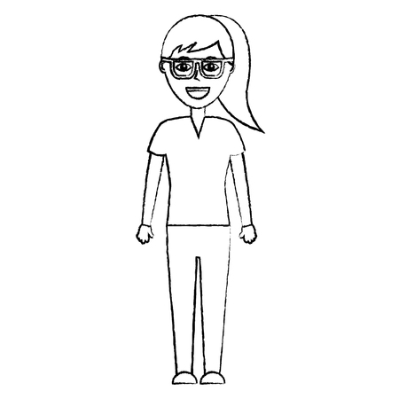 portrait female doctor medical healthcare character vector illustration Illusztráció