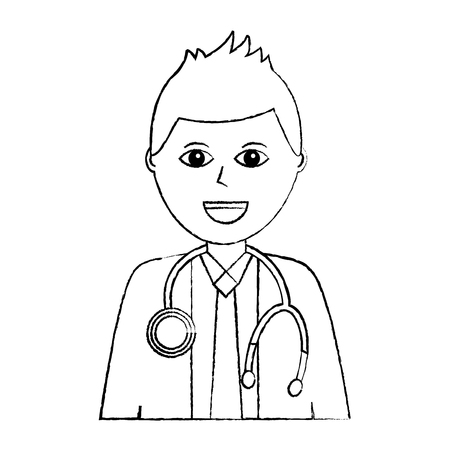 Doctor physician medical staff portrait character vector illustration Reklamní fotografie - 92175977