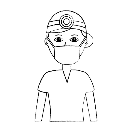 Professional surgeon medical uniform clothes vector illustration Stock fotó - 92175980