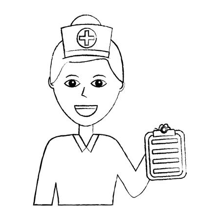 Portrait de femme médecin médical santé personnage illustration vectorielle Banque d'images - 92177837