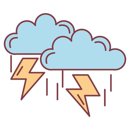 clouds storm electric icon vector illustration design Ilustração