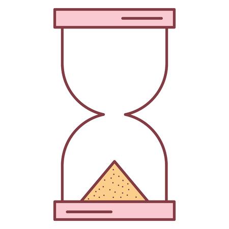 모래 시계 타이머 격리 아이콘 벡터 일러스트 디자인 일러스트