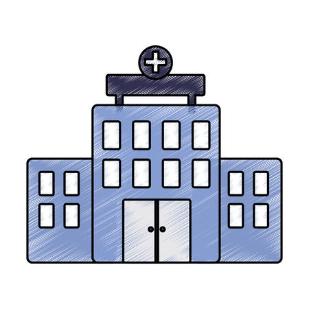 A hospital healthcare icon image vector illustration design sketch style Illustration