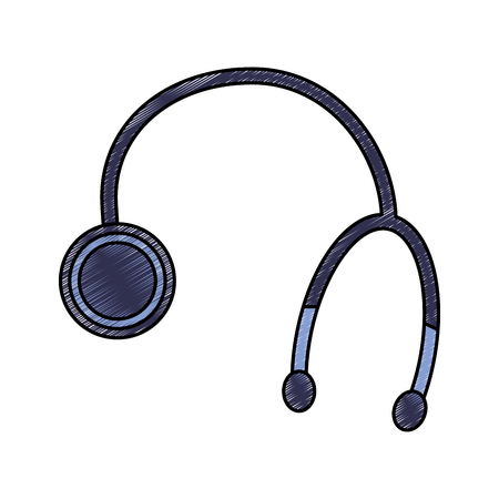 stethoscope or phonendoscope healthcare icon image vector illustration design  sketch style