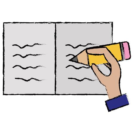 hand human writing icon vector illustration design Ilustracja
