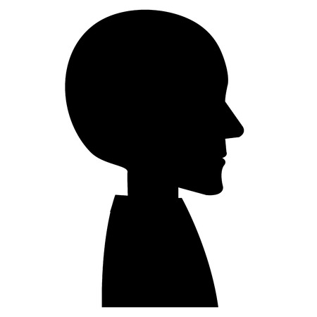 human profile isolated icon vector illustration design 向量圖像