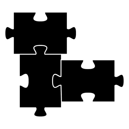 puzzle pieces isolated icon vector illustration design