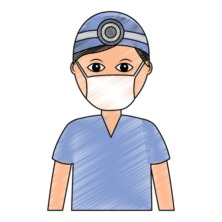 doctor healthcare icon image vector illustration design  sketch style