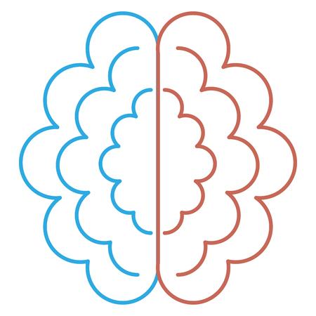 Progettazione dell'illustrazione di vettore dell'icona isolata storming del cervello