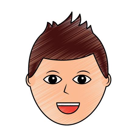 happy man icon image vector illustration design  sketch style Çizim