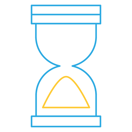 hourglass timer isolated icon vector illustration design
