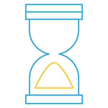 Zandloper timer geïsoleerd pictogram vector illustratie ontwerp Stock Illustratie