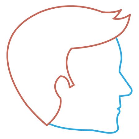 human profile isolated icon vector illustration design Çizim