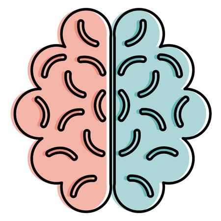 Brain isolated icon illustration design Çizim