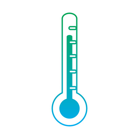 Thermometer healthcare icon image vector illustration design green to blue ombre line