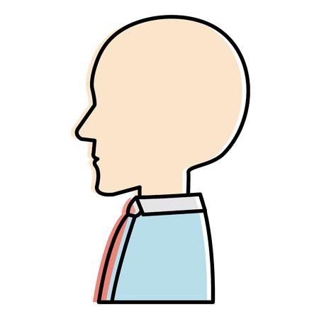 Human profile isolated icon illustration design Illustration