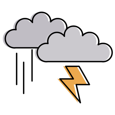 clouds storm electric icon vector illustration design Illustration