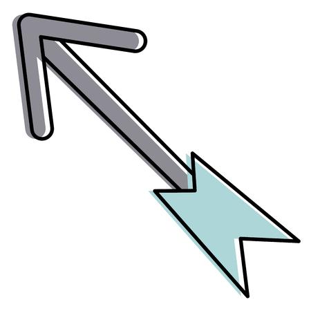 Arrow isolated icon  illustration design Illustration
