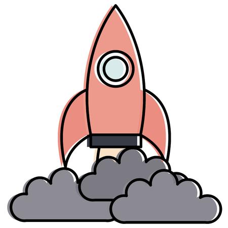 Rocket launcher isolated icon illustration design Illusztráció