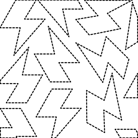 Electric ray symbol pattern background in dashed lines illustration design