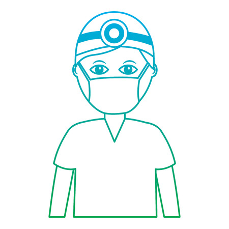 doctor healthcare icon image vector illustration design  green to blue ombre line Stock Vector - 92186181