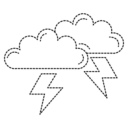 clouds storm electric icon vector illustration design Illusztráció