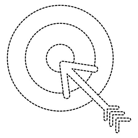 Arrow icon in dashed lines illustration design Illustration