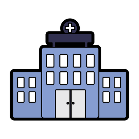 hospital healthcare icon image vector illustration design Illustration