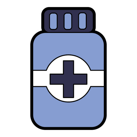 pill bottle healthcare icon image vector illustration design Illustration