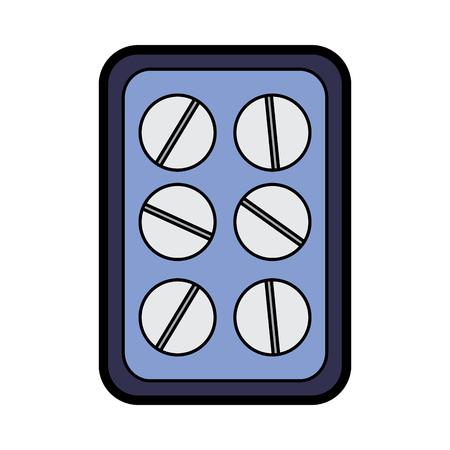 tablets healthcare icon image vector illustration design