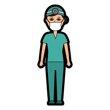 doctor woman  healthcare icon image vector illustration design