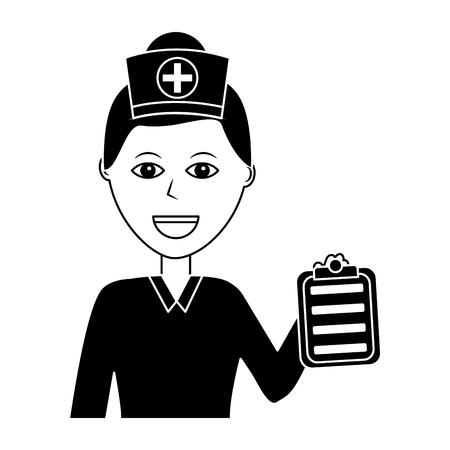 Portrait femme médecin médical santé caractère illustration vectorielle Banque d'images - 92186218
