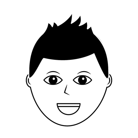 cartoon face man male character person vector illustration Illustration