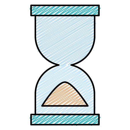 Hourglass timer isolated icon illustration design