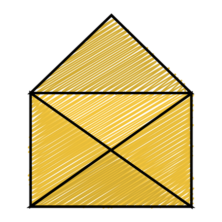 Open mail envelope isolated icon illustration design Ilustrace