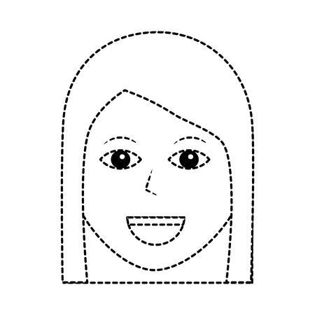 Illustrazione femminile di vettore dell'icona del carattere felice della donna Archivio Fotografico - 92179751