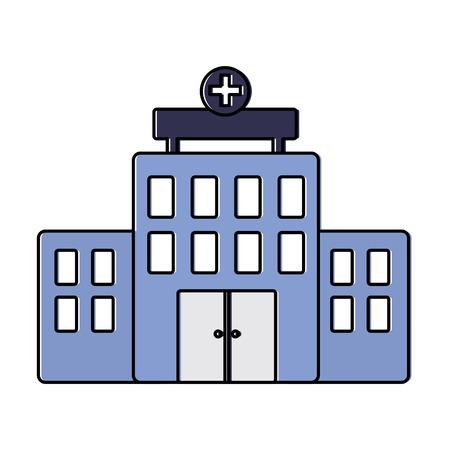 A hospital healthcare icon image vector illustration design Stock Vector - 92191047