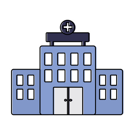 A hospital healthcare icon image vector illustration design