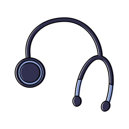 stethoscope or phonendoscope healthcare icon image vector illustration design