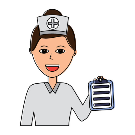 A nurse woman healthcare icon image vector illustration design