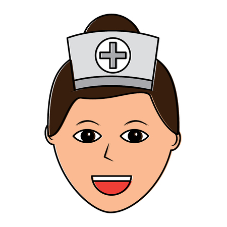 Female nurse icon.