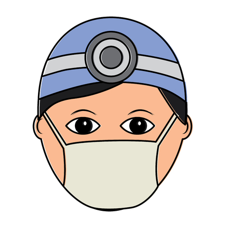 A doctor healthcare icon image vector illustration design Illustration