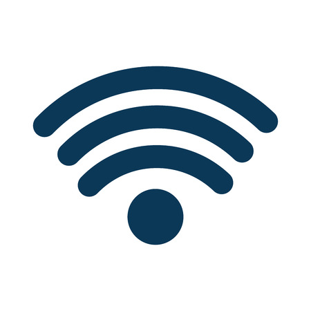 A wifi signal icon image vector illustration design Ilustrace