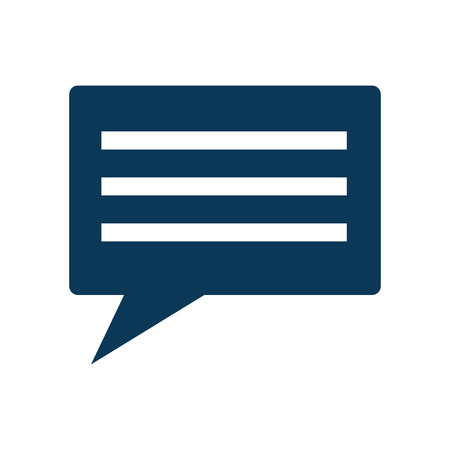 chat conversation bubble icon image vector illustration design Фото со стока - 92180708