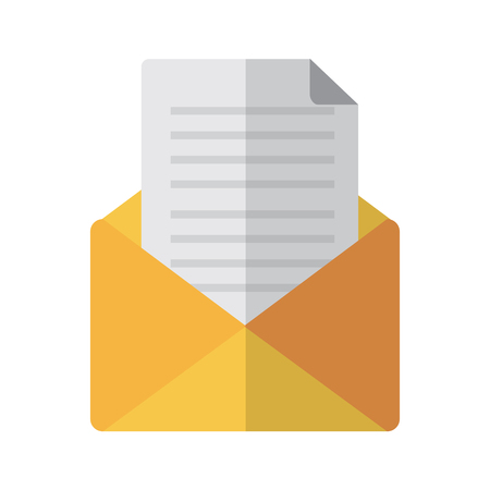 open message envelope icon image vector illustration design