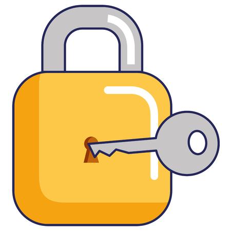 Padlock and key icon.