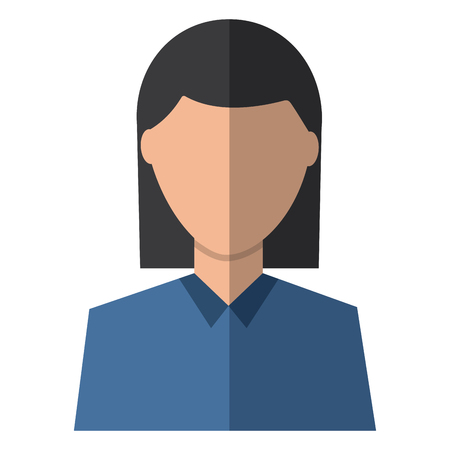 A woman avatar portrait icon image vector illustration design Illustration