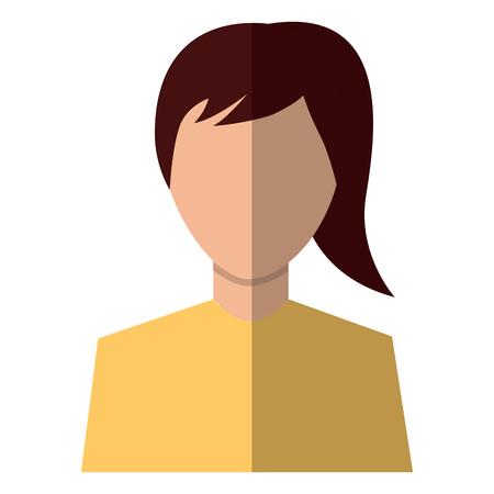 A woman avatar portrait icon image vector illustration design Stock Vector - 92191251