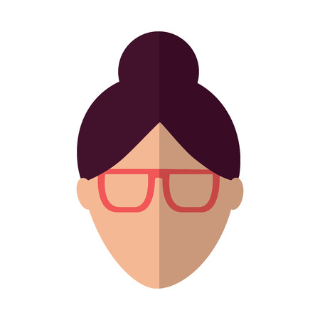 A woman glasses avatar icon image vector illustration design